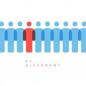 una figura è diversa dagli altri