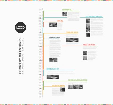 Infographic multi timeline report template