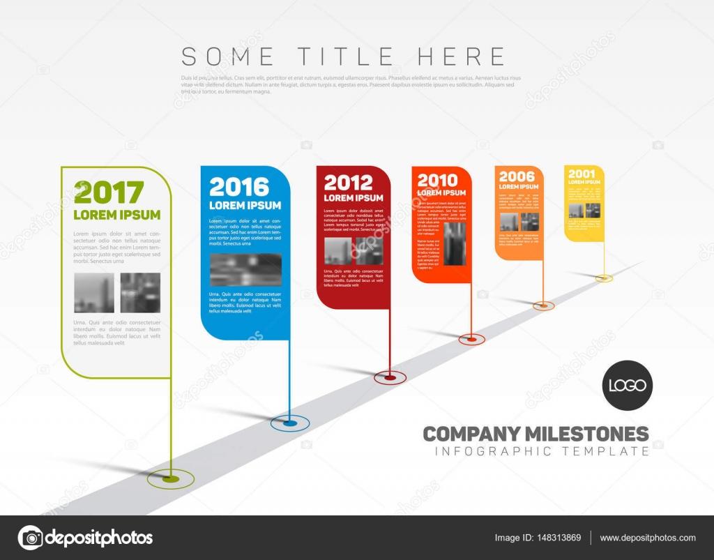インフォ グラフィック会社のマイルス トーンのタイムライン