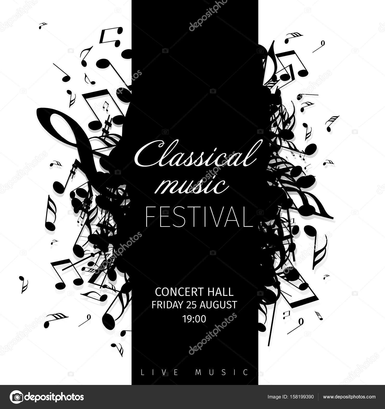concert poster template stock vector orson 158199390