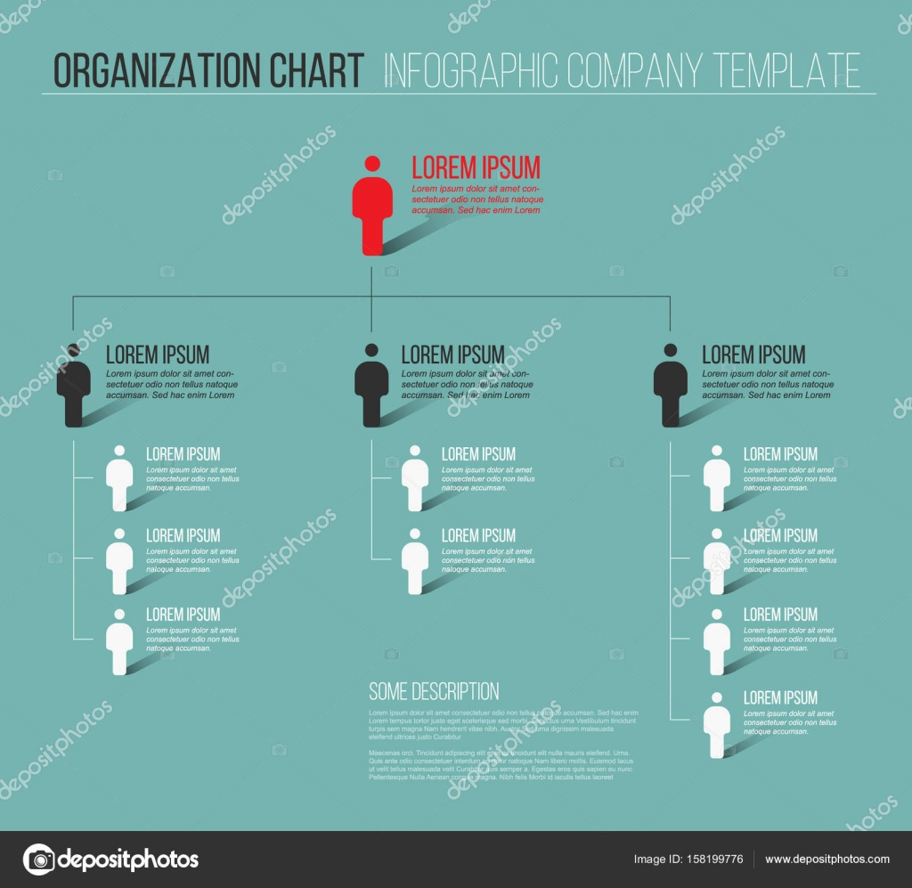 Minimalist company organization hierarchy stock vector orson minimalist company organization hierarchy 3d chart template teal version vector by orson cheaphphosting Gallery