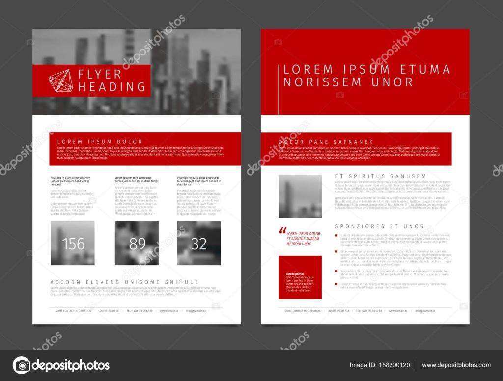 modernes business imagebroschre flyer vektor entwurfsvorlage mit foto und beispiel inhalt vektor von orson - Imagebroschure Beispiele