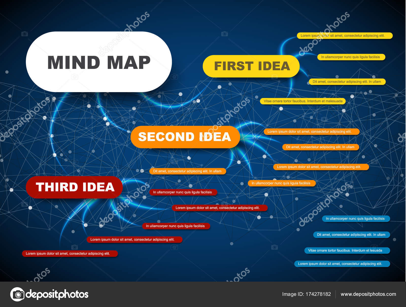 plantilla de infografía de mapa mental — Vector de stock © orson ...