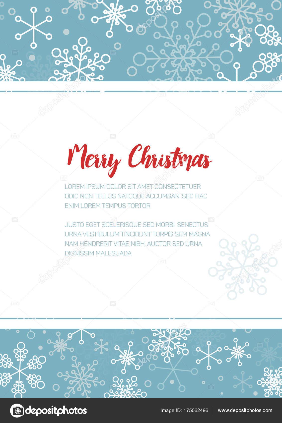 Minimalistische Kerst Folder Stockvector C Orson 175062496