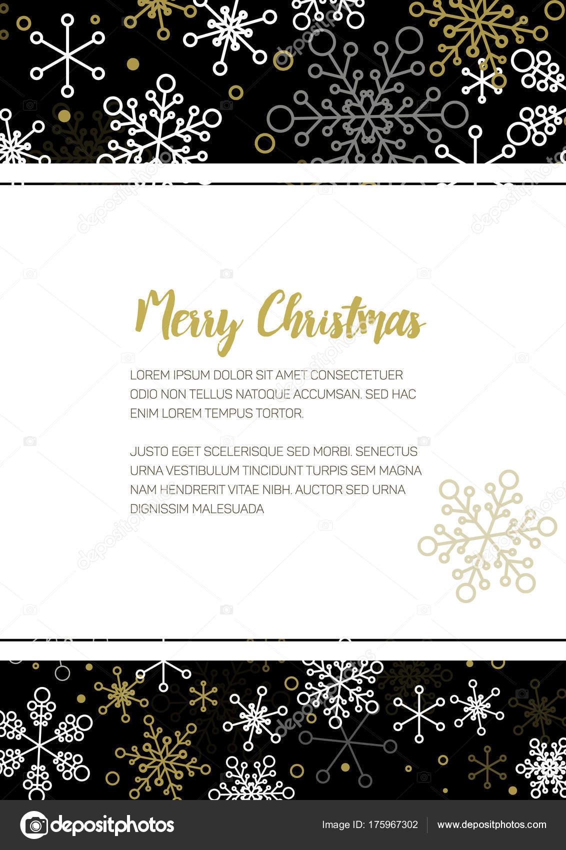 Minimalistische Kerst Folder Stockvector C Orson 175967302