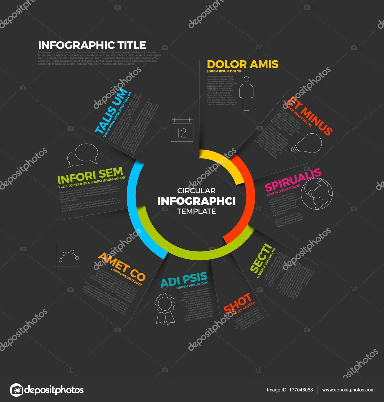 plantilla de informe de infografía circular r — Archivo Imágenes ...
