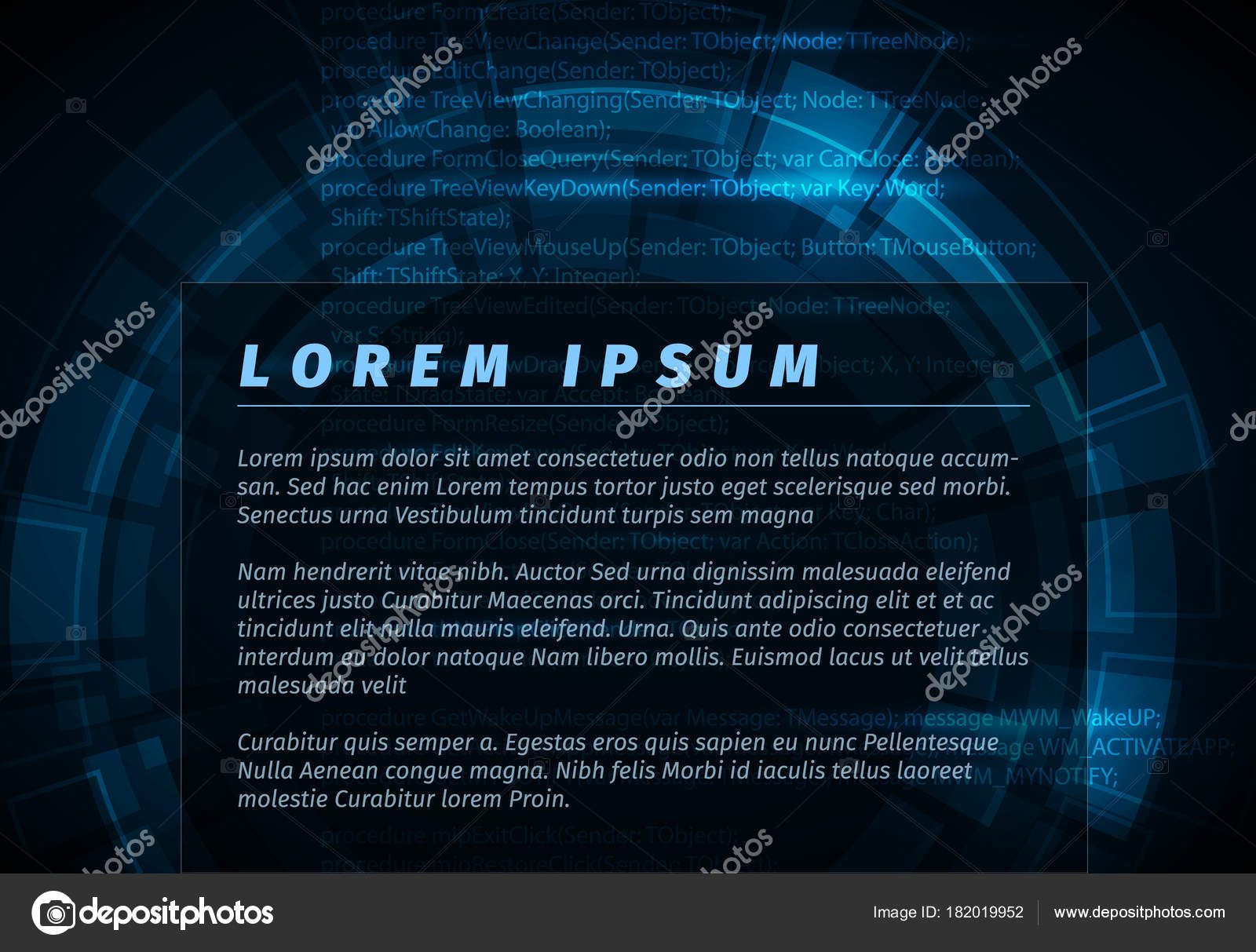 Abstract Dark Blue Technical Background Flyer Template Place Your ...