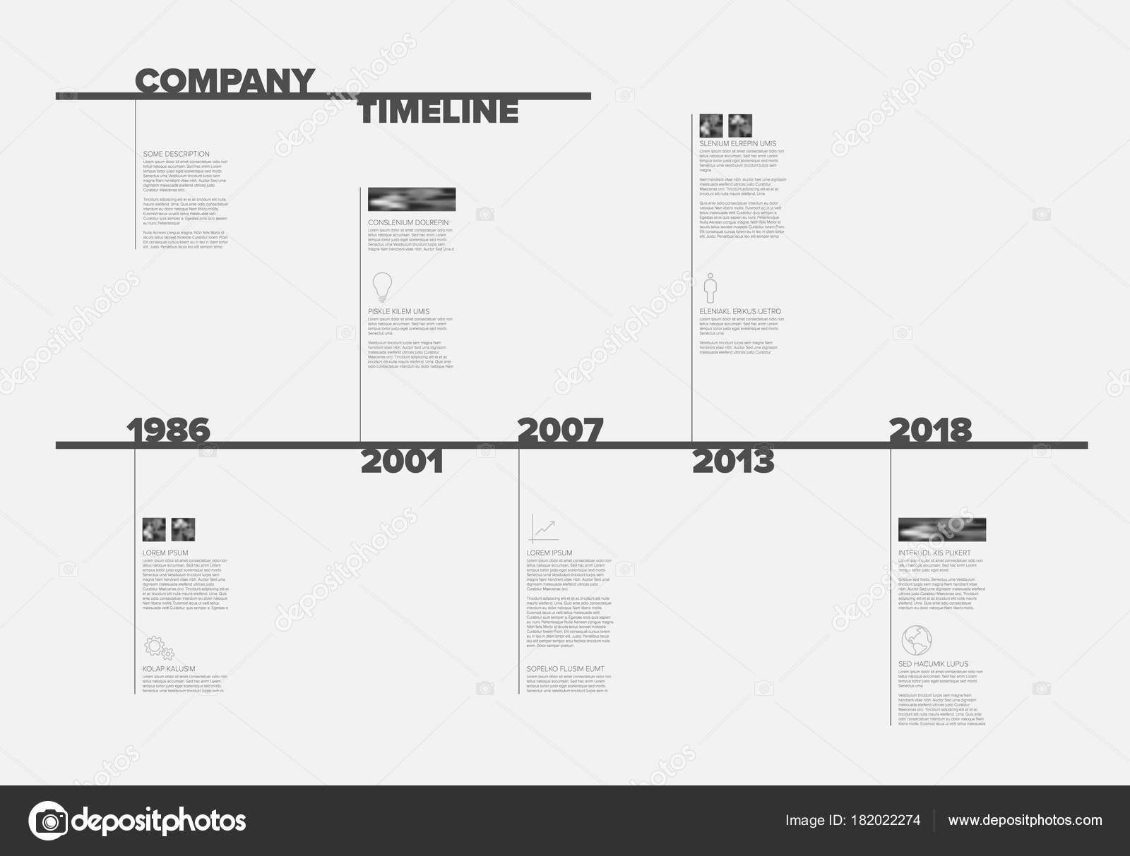 Vector Plantilla Informe Línea Tiempo Infografía Con Tipografía ...