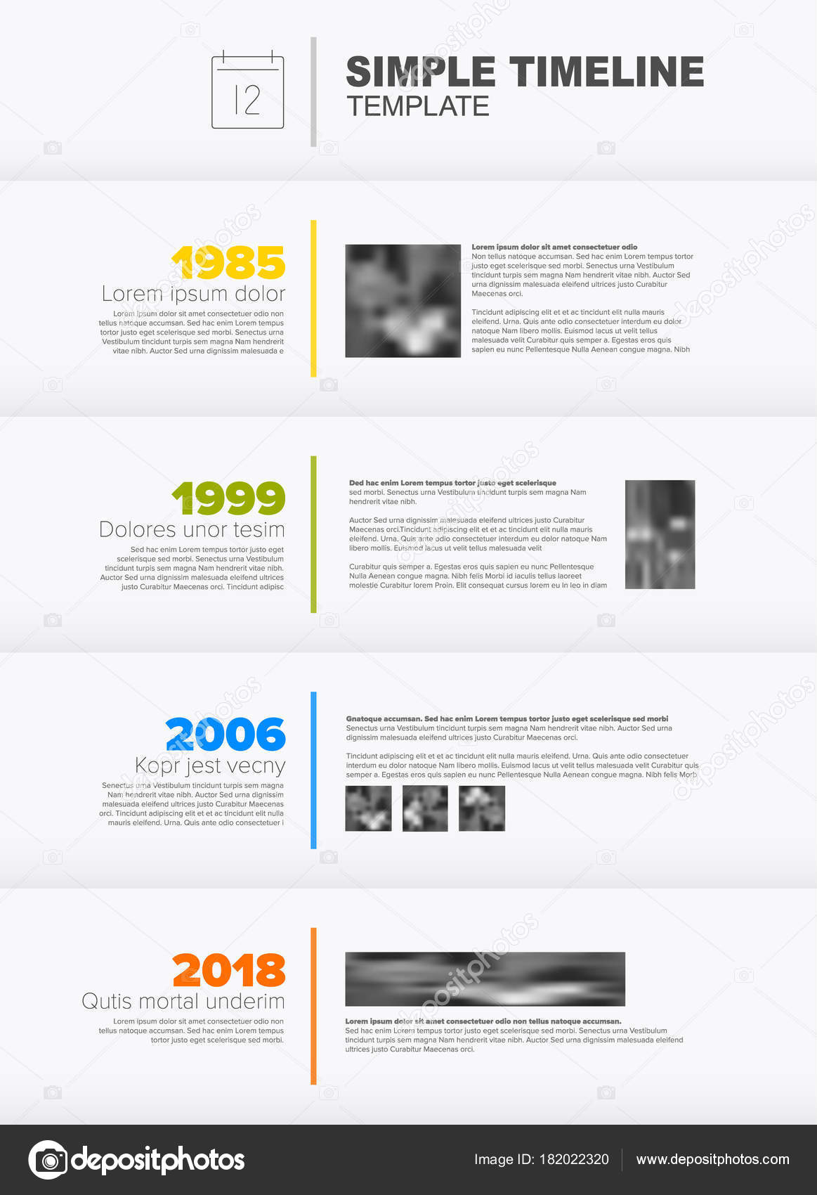 nice simple timeline template images