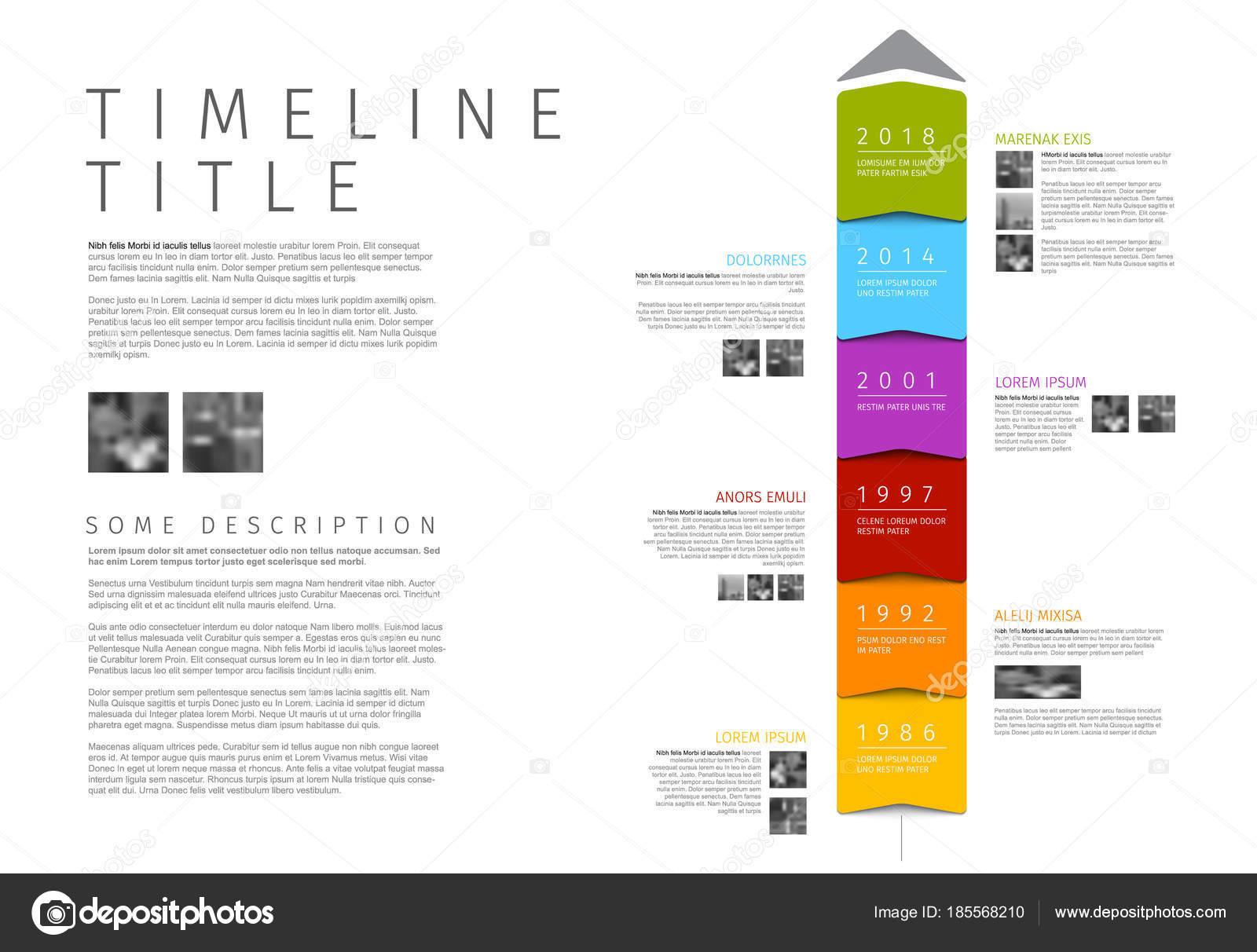 Vectores Colorido Vertical Infografía Calendario Plantilla Informe ...