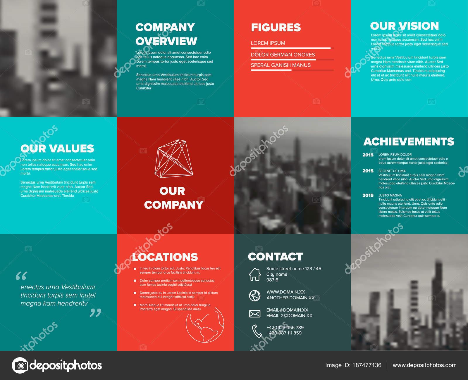Company profile template — Stock Vector © orson #187477136