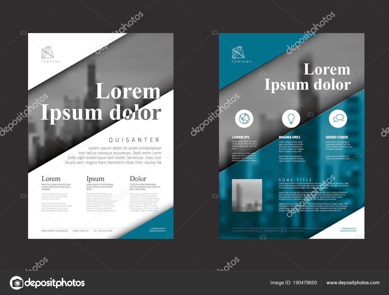 moderne blau business imagebroschre flyer vektor entwurfsvorlage mit foto und beispiel inhalt vektor von orson - Imagebroschure Beispiele