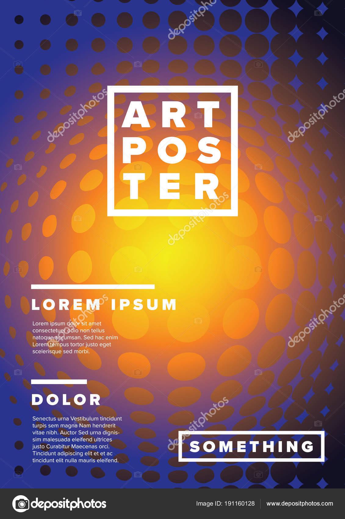 Vectores Modernos Arte Poster Plantilla Para Partido Exposición ...