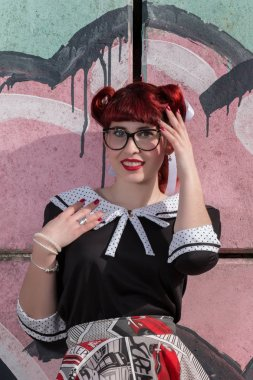 Pinup girl with hairstyle
