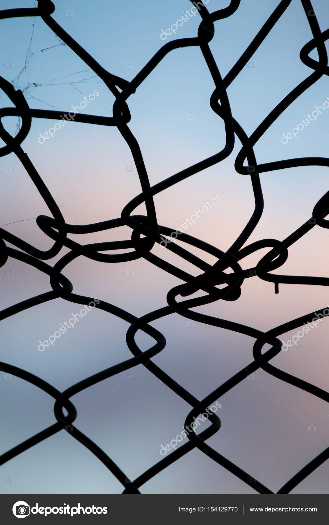 twisted wire fence — Stock Photo © membio #154129770