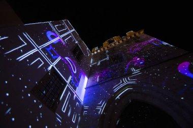 Abstract art light installation
