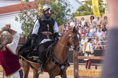 Medieval performers on festival