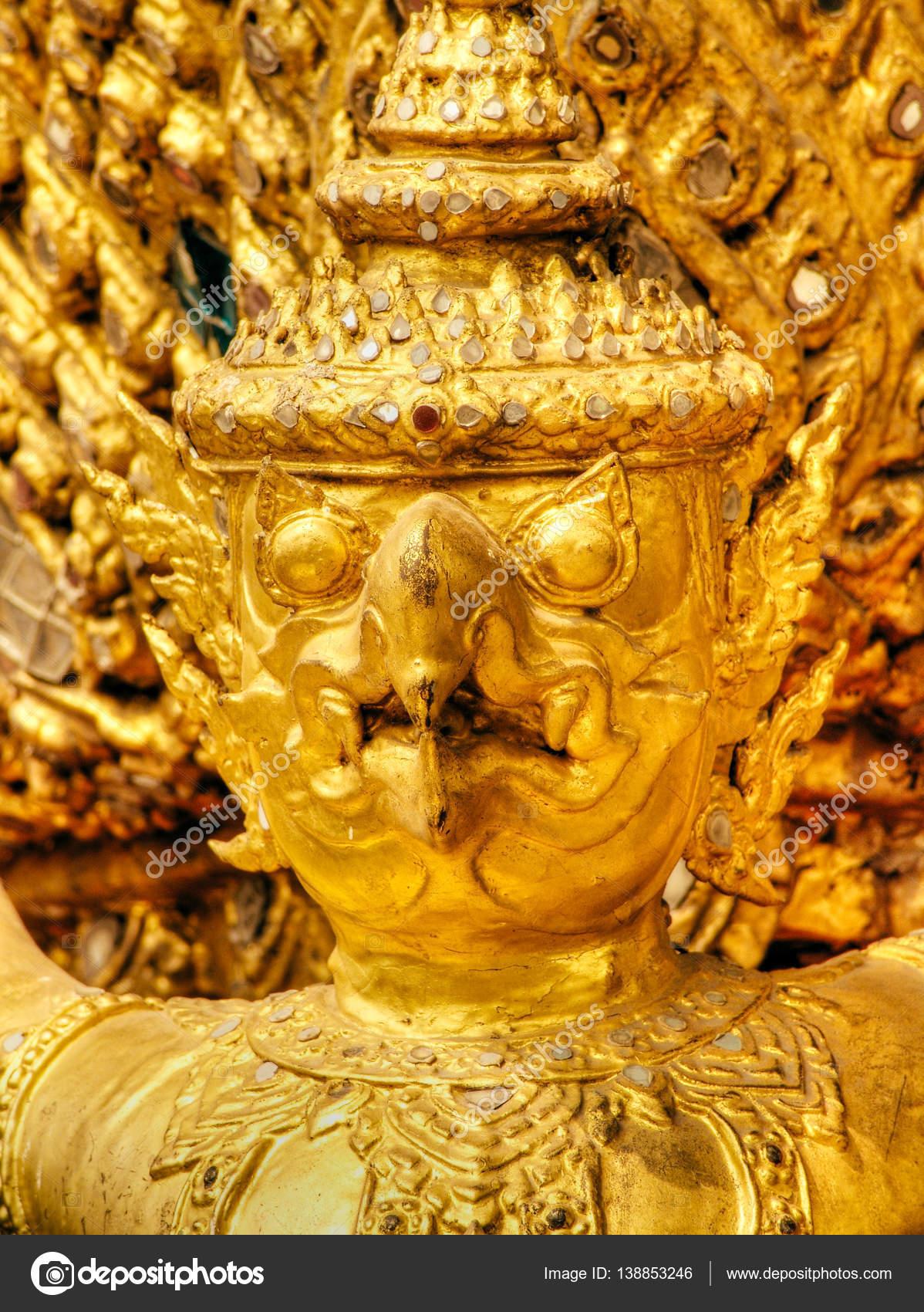Garuda birds decoration on the walls of Kings palace Bangkok ...
