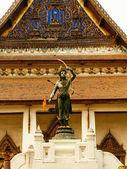 Zlatá socha lukostřelce, Rama hinduismu na královský palác, Bangkok, Thajsko