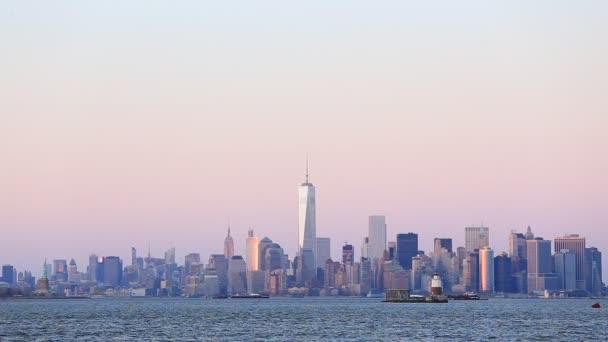centrum panorama New Yorku manhattan
