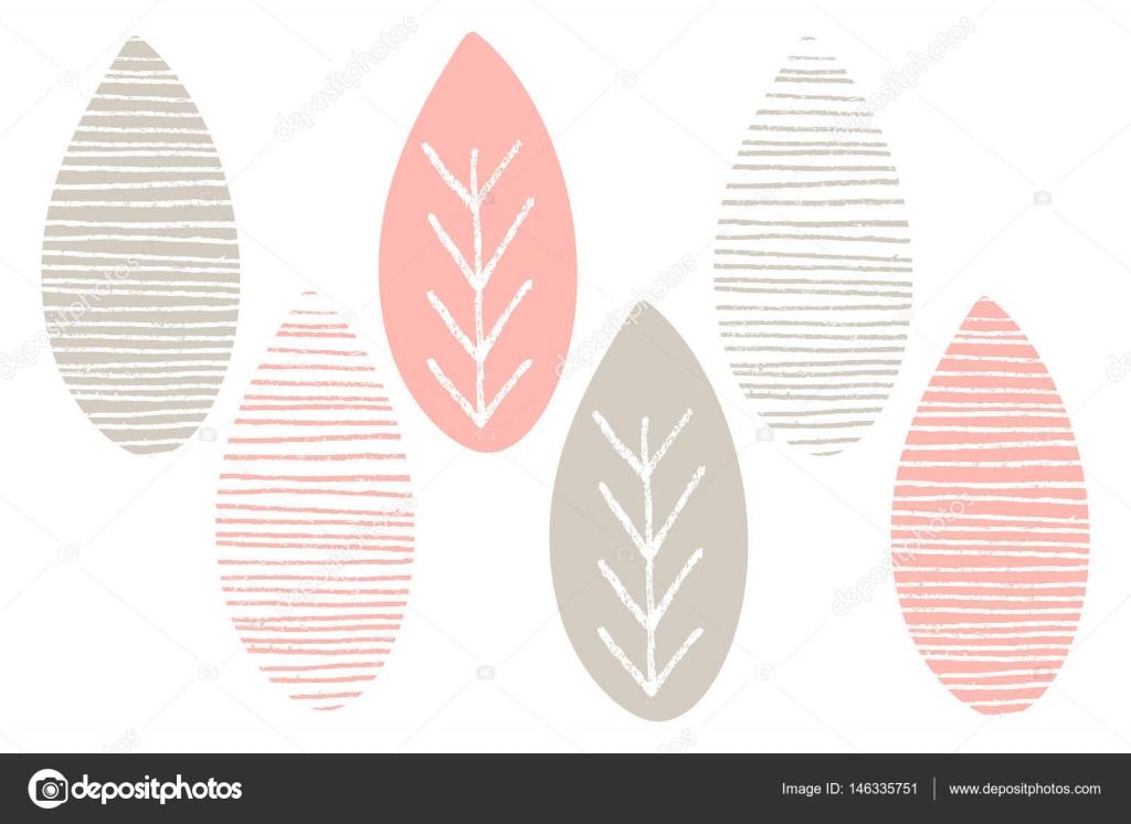Patrón de vectores de naturaleza. Hojas de color rosas y blancos ...