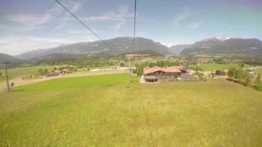 View of Dolomites Alps from Funicular, Plan de Corones, Kronplatz, Italy