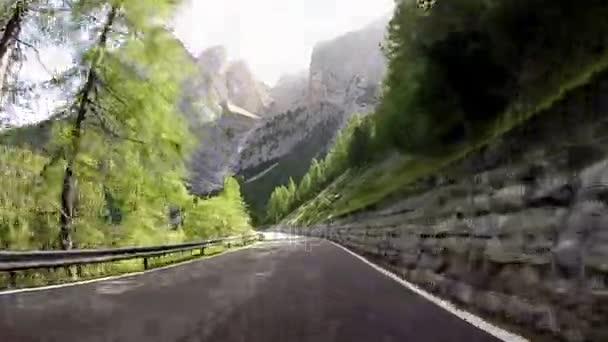 Průsmyku Pordoi Alpy, Itálie, Dolomity