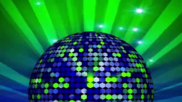 Looped Disco Ball és Sunburst animáció diszkókhoz, klubokhoz stb. .