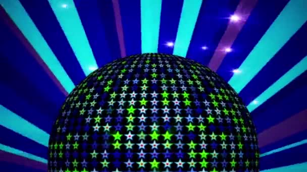 LOOPED Disco Ball and Sunburst animation for discos, clubs and etc .
