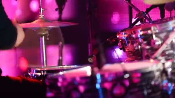 Drummer Playing Tv Studio Concert Show Footage Drum Kick for different projects!!!  (TV Studio Detail)