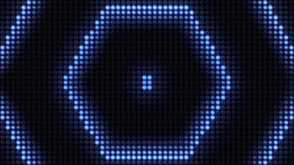 Looped Led Világítás, led pixelek, fali fény, stroboszkóp fény, zseblámpák háttér vezetett képernyők és videó vetítés feltérképezése. Szintén a rendezvény, koncert, cím, site, DVD, zenei videók, ünnep show, party, stb