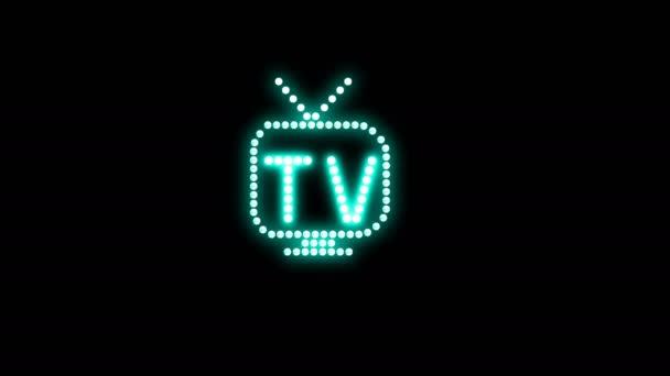 TV Textová značka Bezešvé smyčka animace žárovky LED pixely, blikání světla, blikající světla reklamní banner. Lehký text. Digitální displej. Více TEXTS je k dispozici v mém portfoliu.