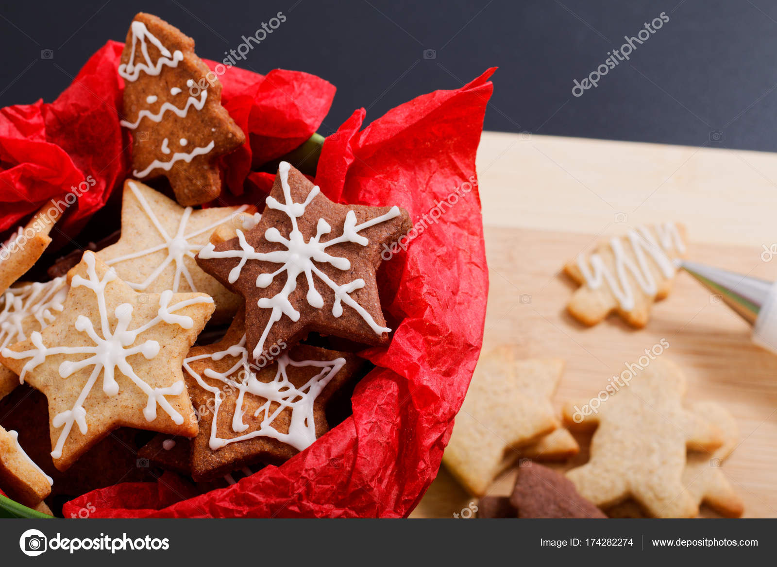Idea diy do it yourself new year and christmas gift concept butter idea diy do it yourself new year and christmas gift concept butter sugar cookies with royal solutioingenieria Image collections