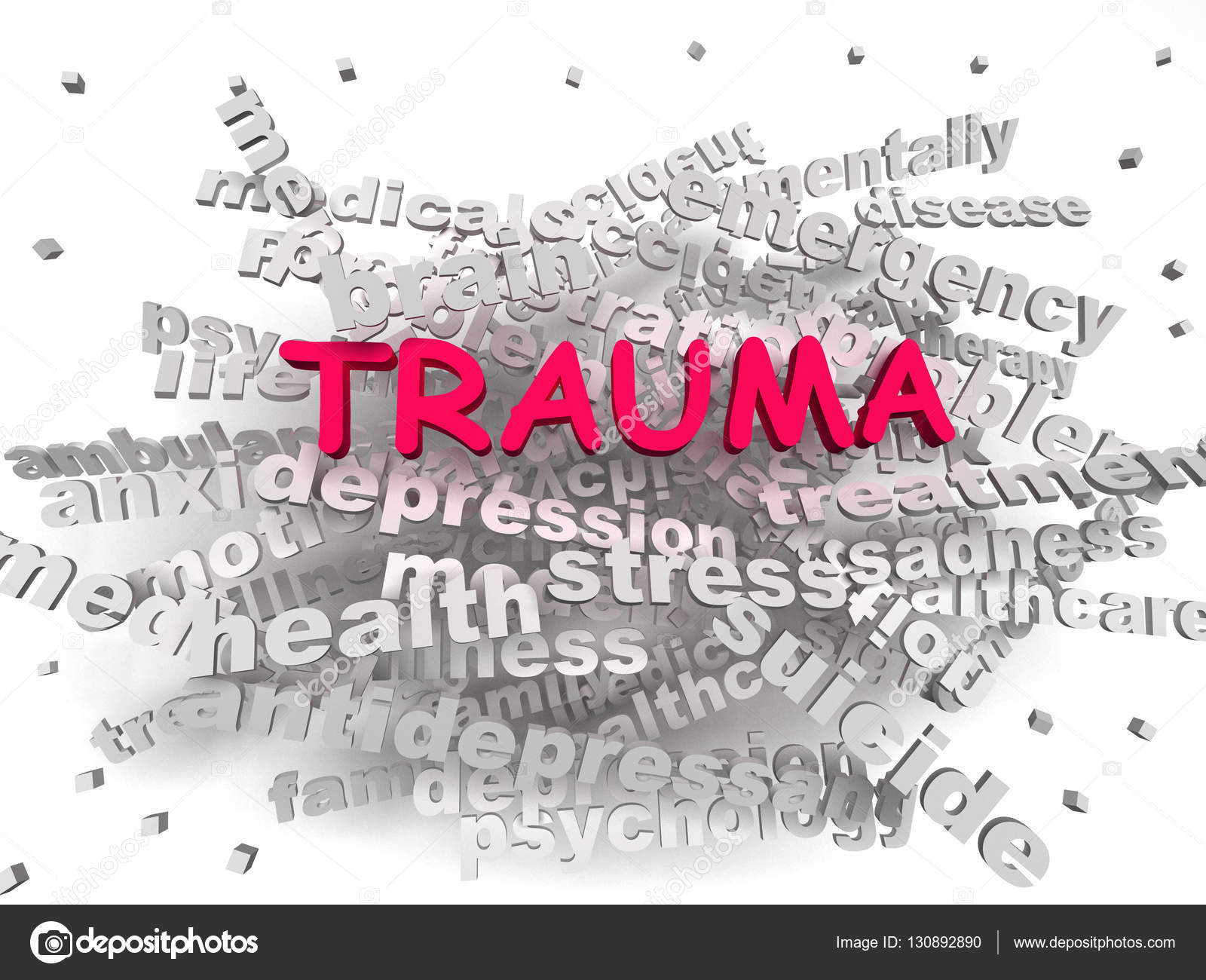 3d image trauma word cloud concept stock photo dacasdo 130892890