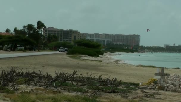 Aruba, Feb 11: Palm Beach which is a world famous street containing high rise hotels and restaurants in Aruba on Feb 11, 2018.