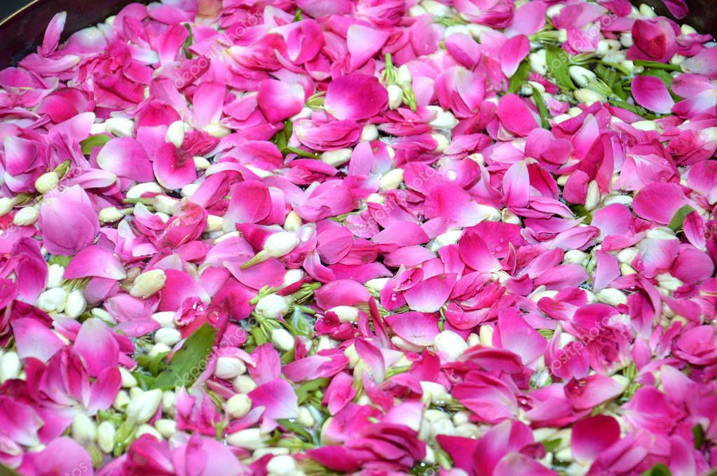 flower petals in water used in Javanese Indonesia  traditional wedding ceremony