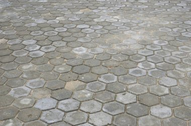 pattern octagonal on the paving block