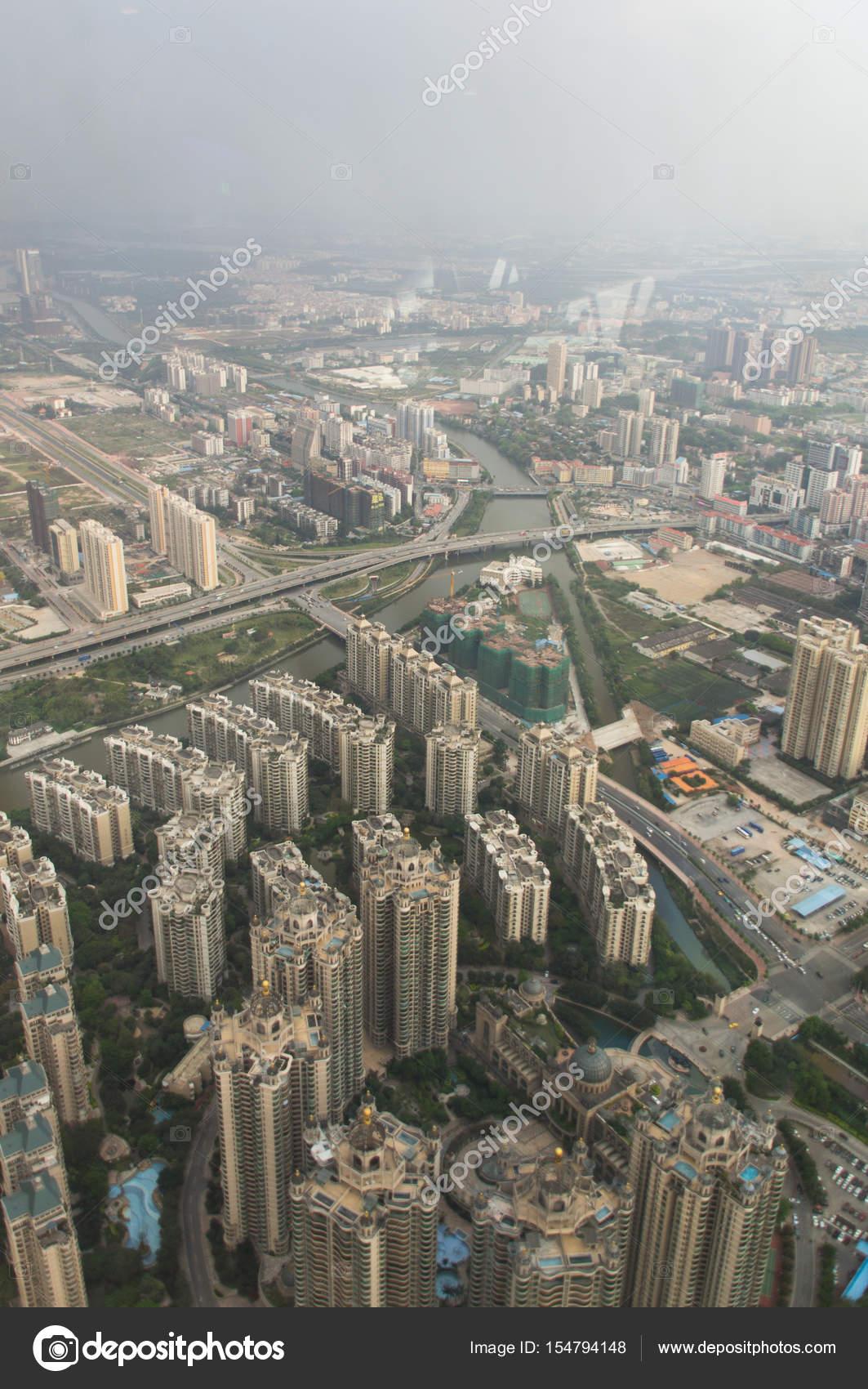 Skyscrapers In China Cities Aerial View Stock Photo C Yashka7