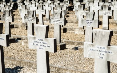 Thessaloniki, Greece - July, 12.2016: Military cemetery from the First World War