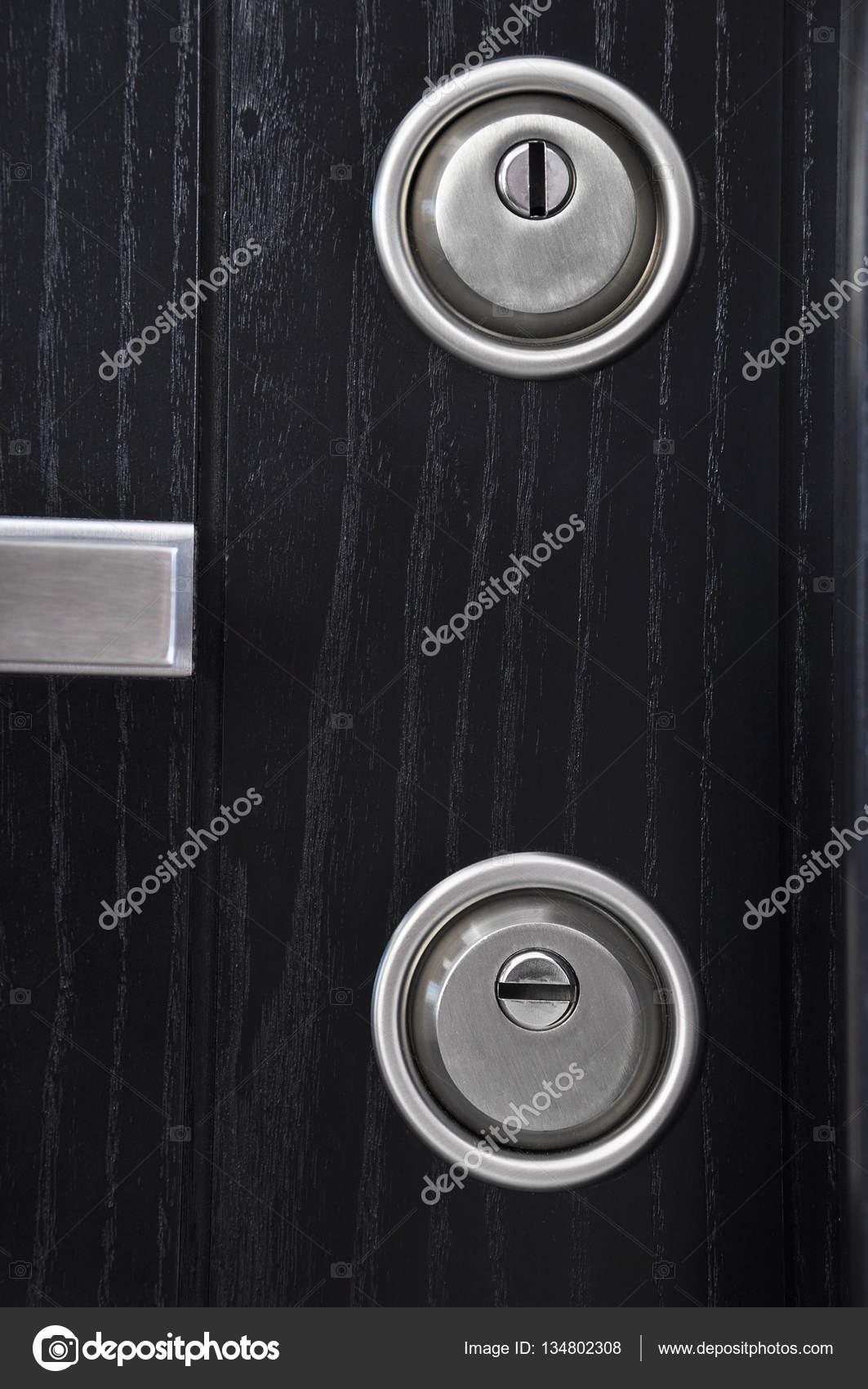 modern front door handles. Modern Front Door Keyhole \u2014 Stock Photo Handles