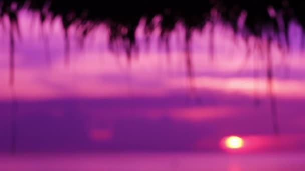 Defocused scene of sunset