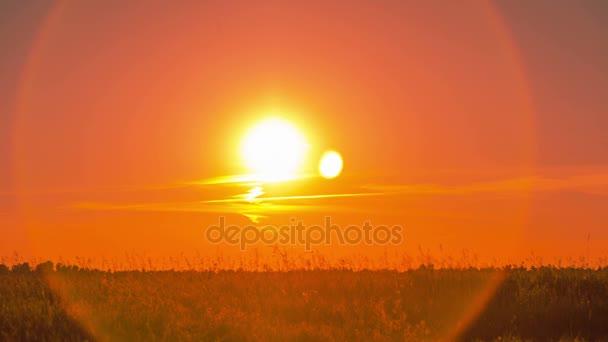 louka v západu slunce, časová prodleva