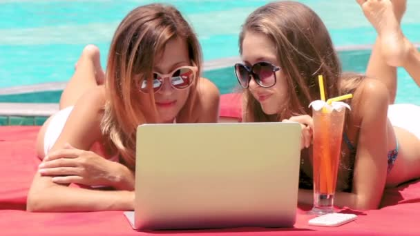 Two Freelaner Women working on Laptop together, set of 3 shots