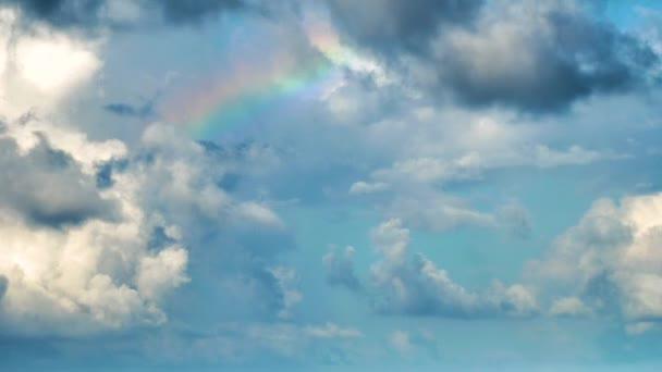 Rainbow odhalila mraky v sky časová prodleva