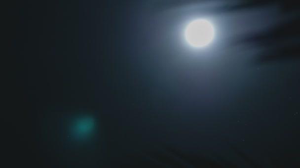 úplněk noční oblohy. měsíční časová prodleva