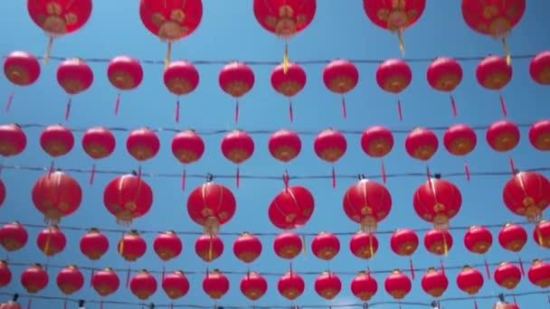 3 az 1-es videó. Kínai új év, a kínai vörös lámpás, a tavaszi fesztivál