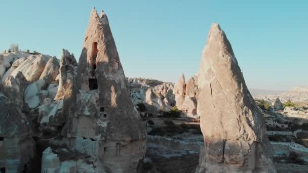 Légi kilátás tündér kémények völgyek Cappadocia Nevsehir Törökország