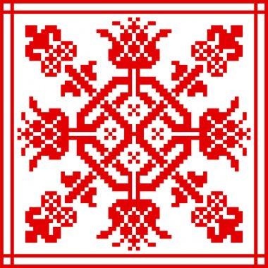 Belarusian ethnic ornament, seamless pattern