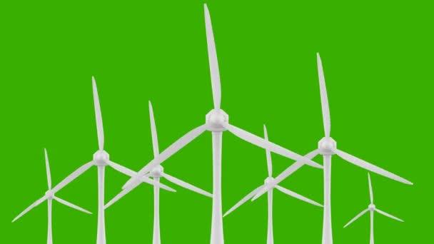 Loop-Windkraft-Antriebstechnik. saubere und erneuerbare Energie-Lösung. Chroma-key