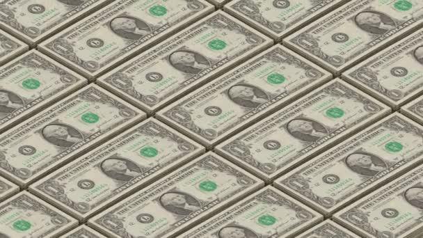 Dolar účty peníze pozadí. Portrét George Washington tisku smyčky peníze